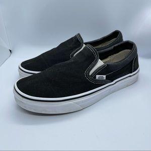 Vans black & white slip on sneakers